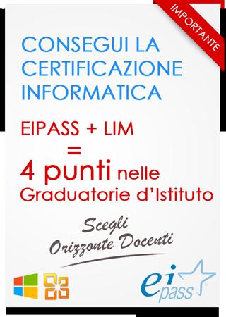 Certificazione informatica SCADENZA ISCRIZIONE 31 AGOSTO 2015