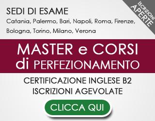 Master e Perfezionamenti SCADENZA ISCRIZIONE 31 AGOSTO 2015