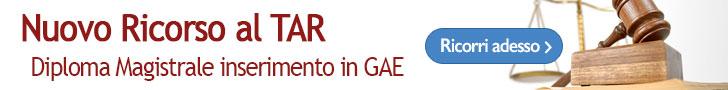 Ricorso al TAR diploma magistrale inserimento in GAE