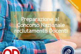 Preparazione al concorso nazionale per il reclutamento docenti