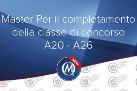 Master per il completamento della classe di concorso a20 a26