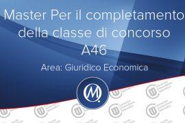 Master per il completamento della classe di concorso area giuridico economica