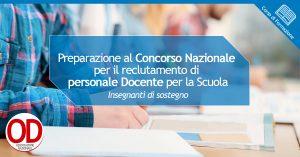 Preparazione al concorso nazionale personale docente - Insegnanti di sostegno