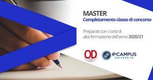 Master per il completamento delle classi di concorso