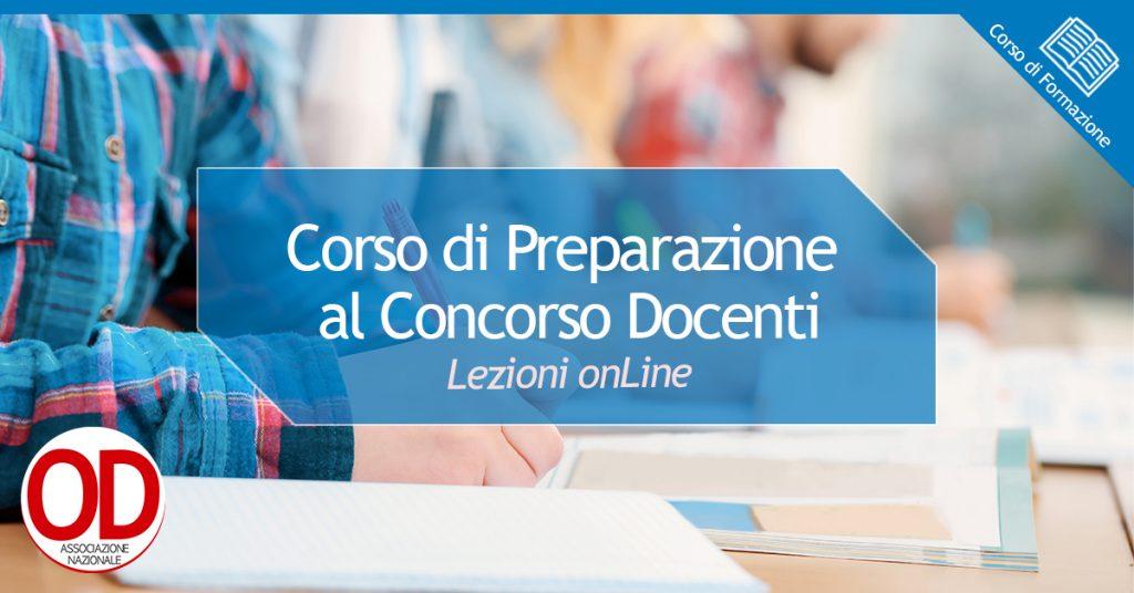 Corso di preparazione al concorso docenti onLine