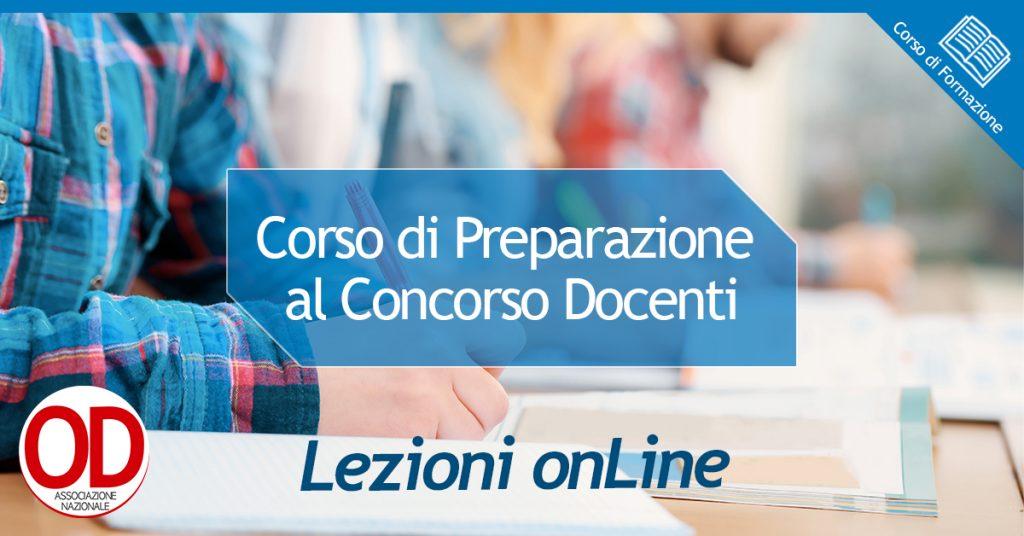 Corso di preparazione al concorso docenti - lezioni online