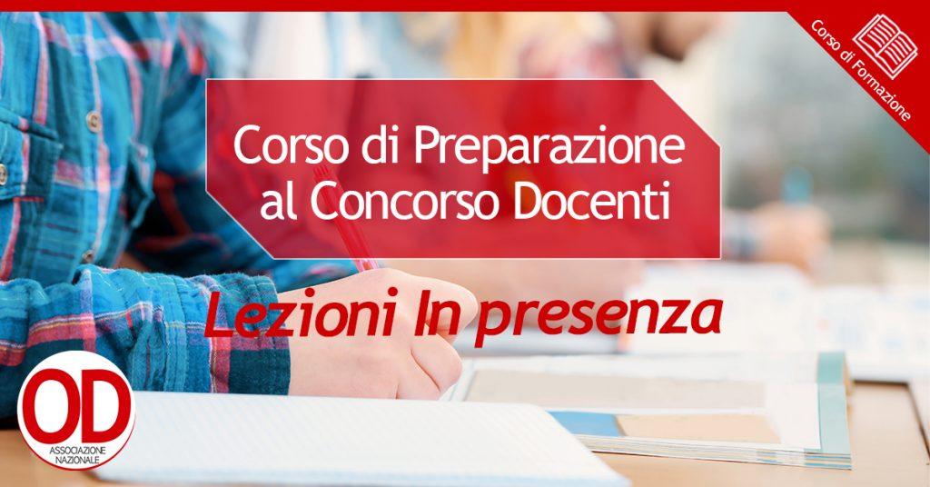 Corso di preparazione al concorso docenti