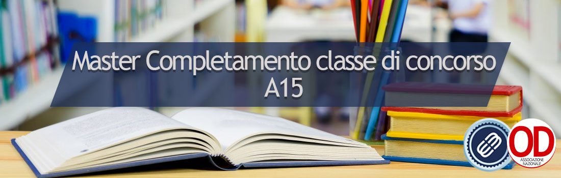 master completamento classe di concorso A15