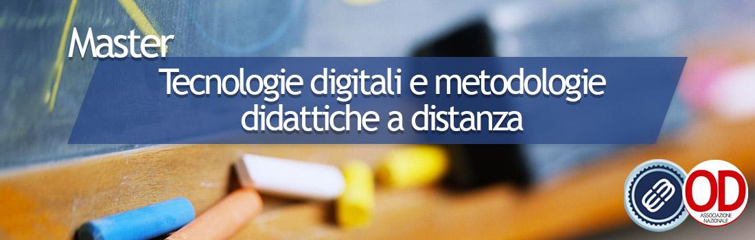 Master Tecnologie digitali e metodologie didattiche a distanza