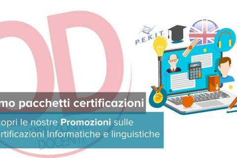 promozioni certificazioni informatiche e lingua inglese