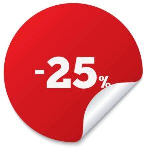 sconto 25 percento