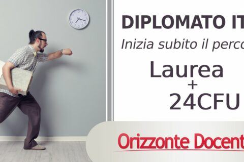 diplomati itp, laurea e 24 cfu